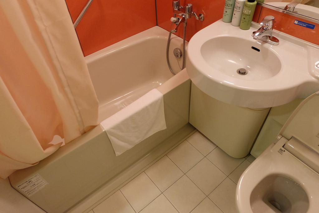 チサンイン倉敷水島 スタンダードダブル バスルーム