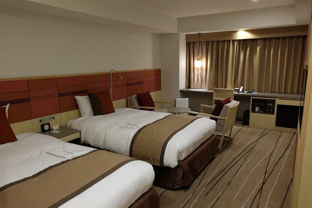 29平米(JR九州ホテル ブラッサム博多中央 デラックスツイン)