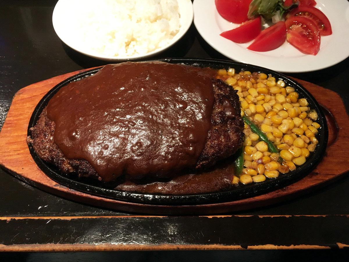 ステーキハウス キッチンファクトリー「ハンバーグステーキ」(2017年6月)