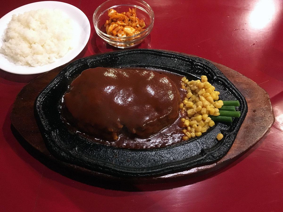 ビリー・ザ・キッド 西蒲田店「ジャンボ・ハンバーグセット 500g」(2017年7月)