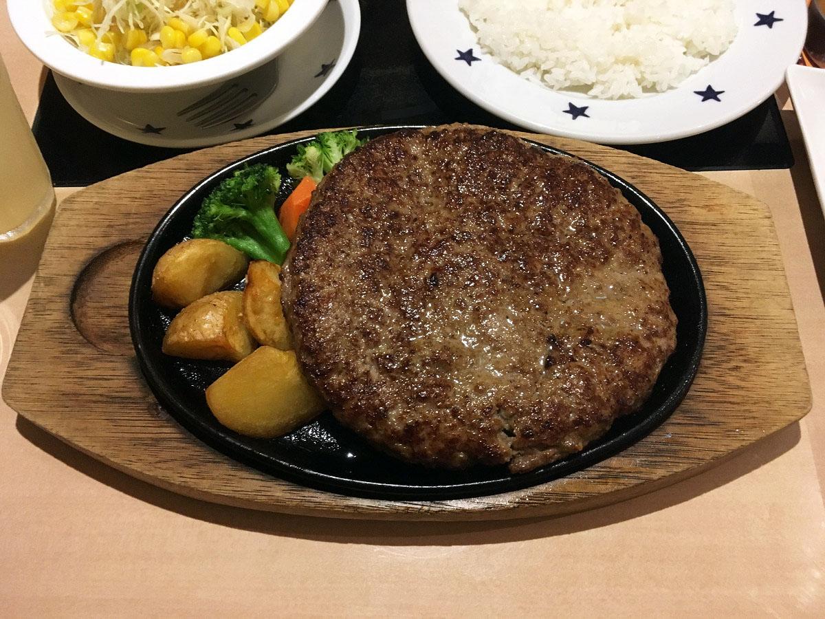 ステーキのどん 大和店「3代目 横綱ハンバーグ 600g」(2017年7月)