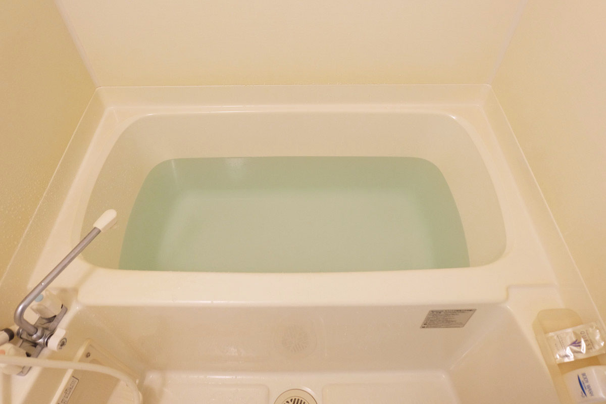 150L(一人暮らし用アパートの浴槽)