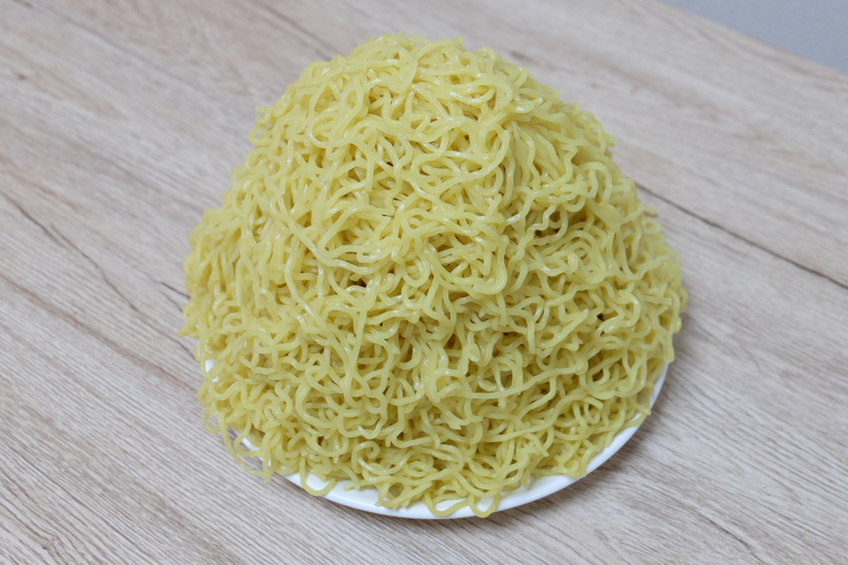 1000gの麺(茹でた後:1618g)