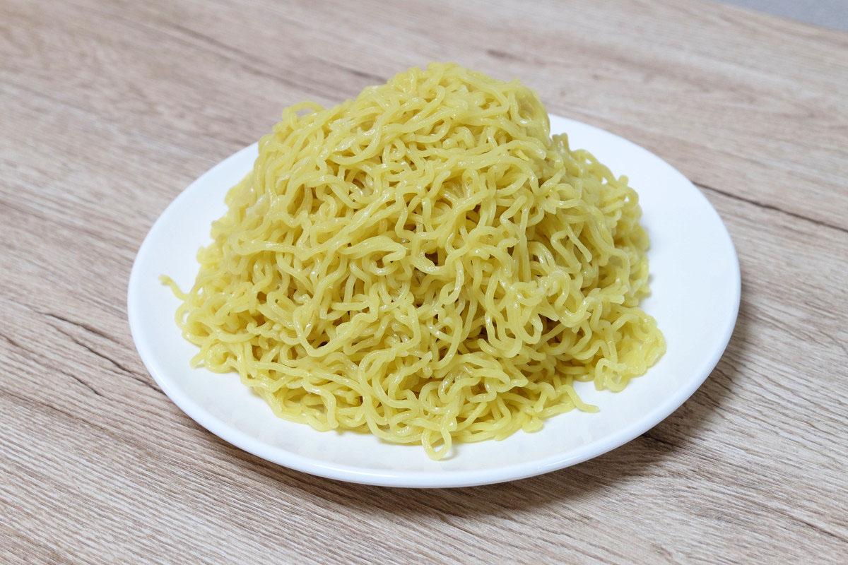 300gの麺(茹でた後:489g)