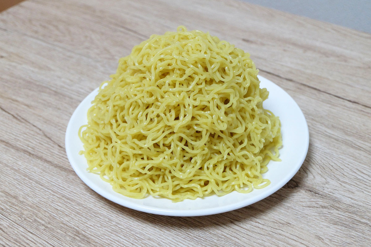 400gの麺(茹でた後:649g)