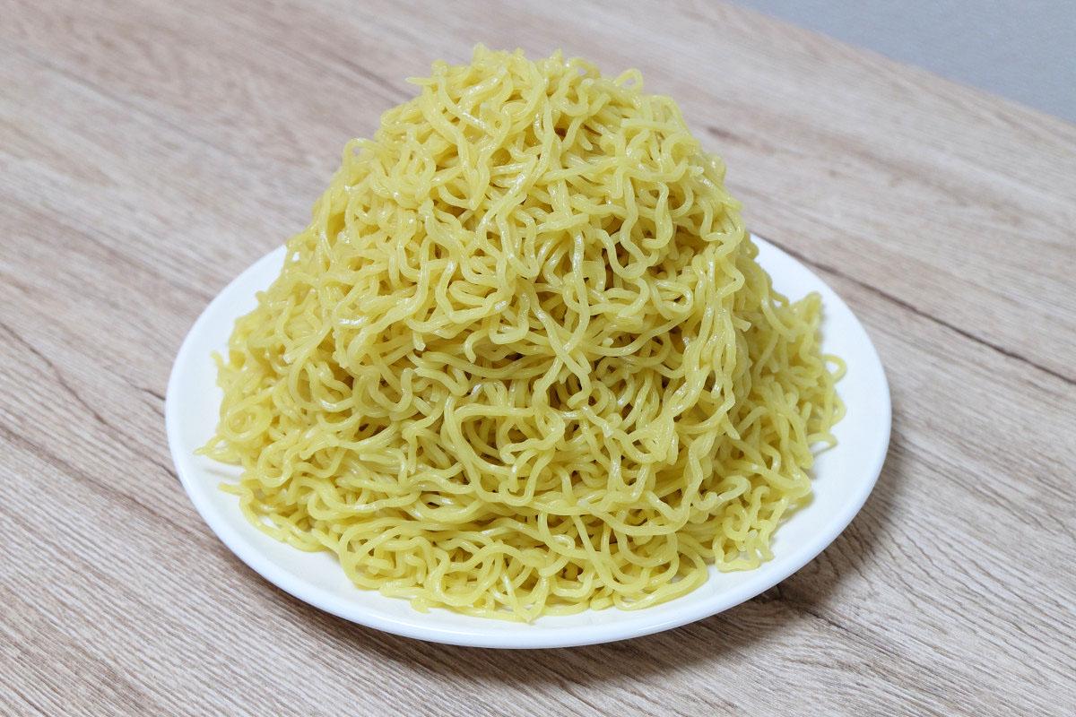 500gの麺(茹でた後:809g)