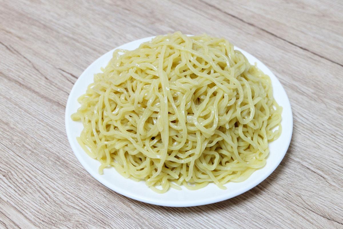 450gのつけ麺(茹でた後:745g)