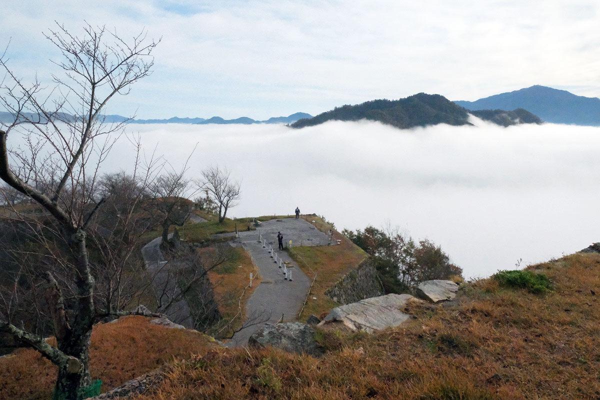 竹田城側から見た雲海