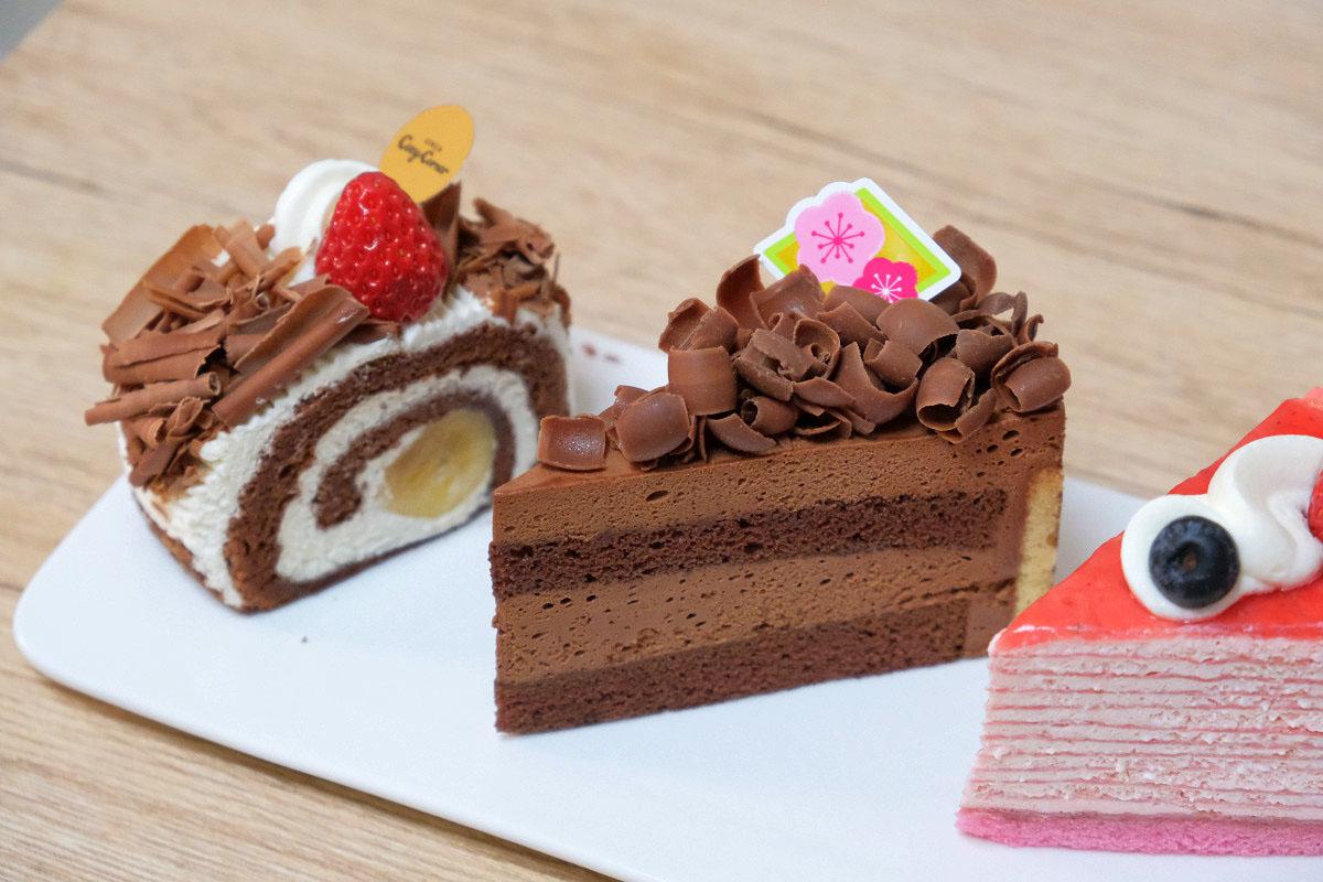 ケーキの上に乗せたチョコレートコポー