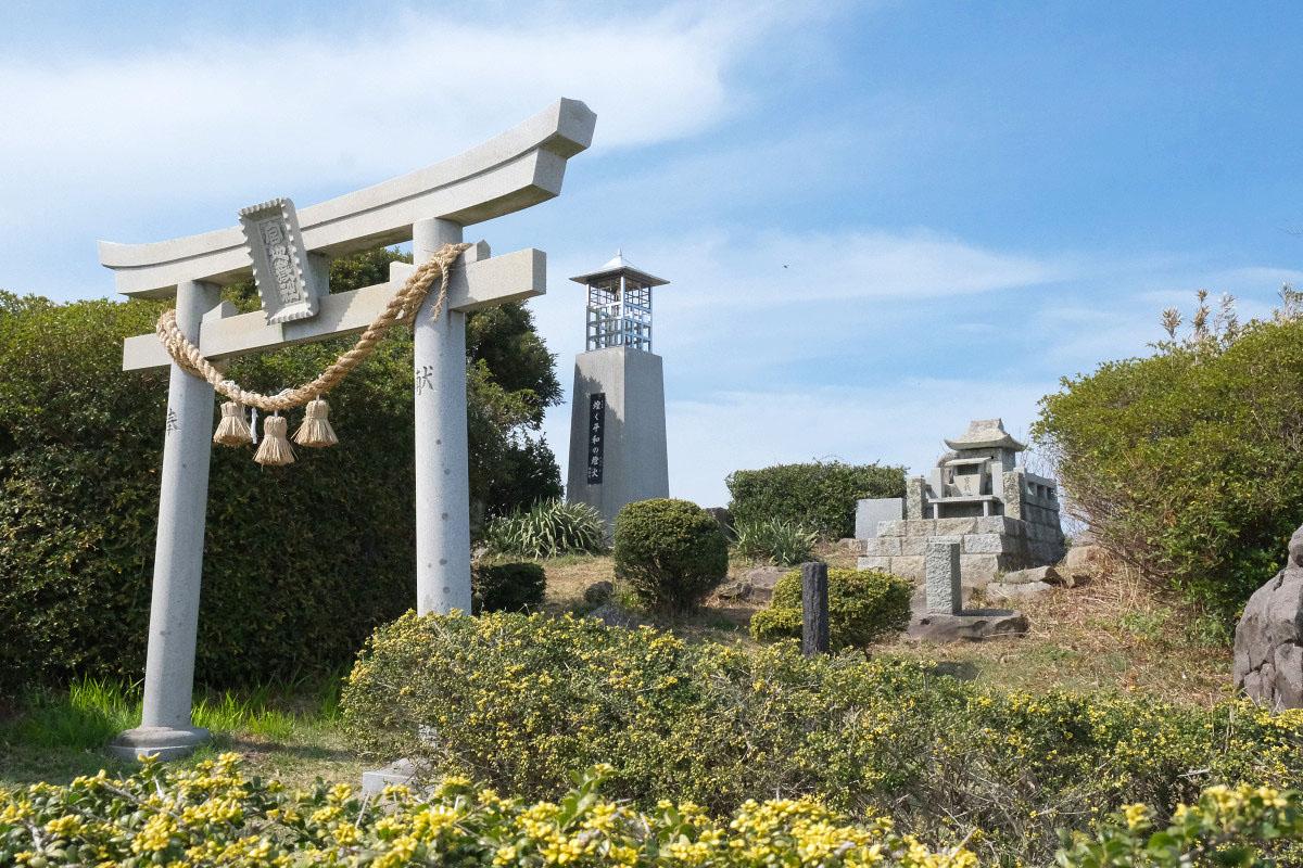 千畳敷の先端にある宮地嶽神社