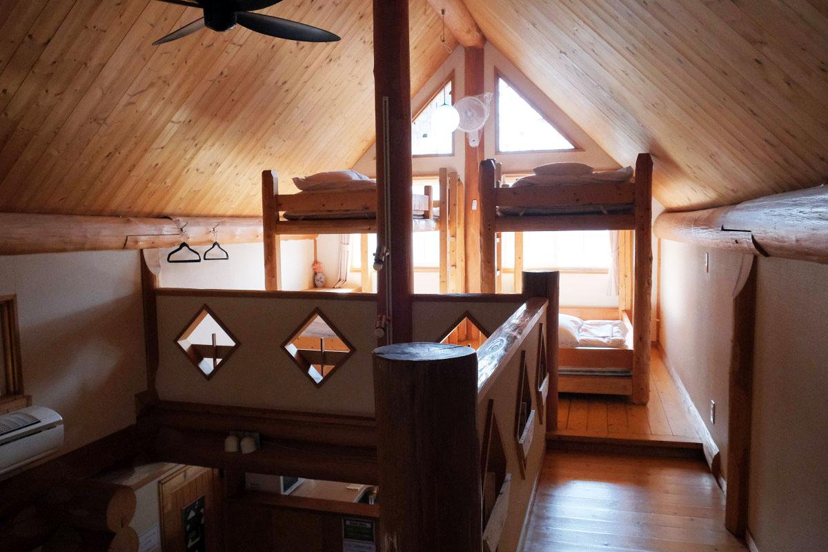 2階の二段ベッド