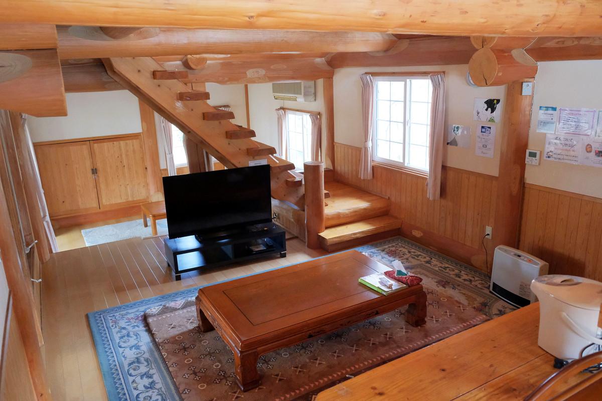 89平米 黒川 森のコテージ 10名用ログハウス