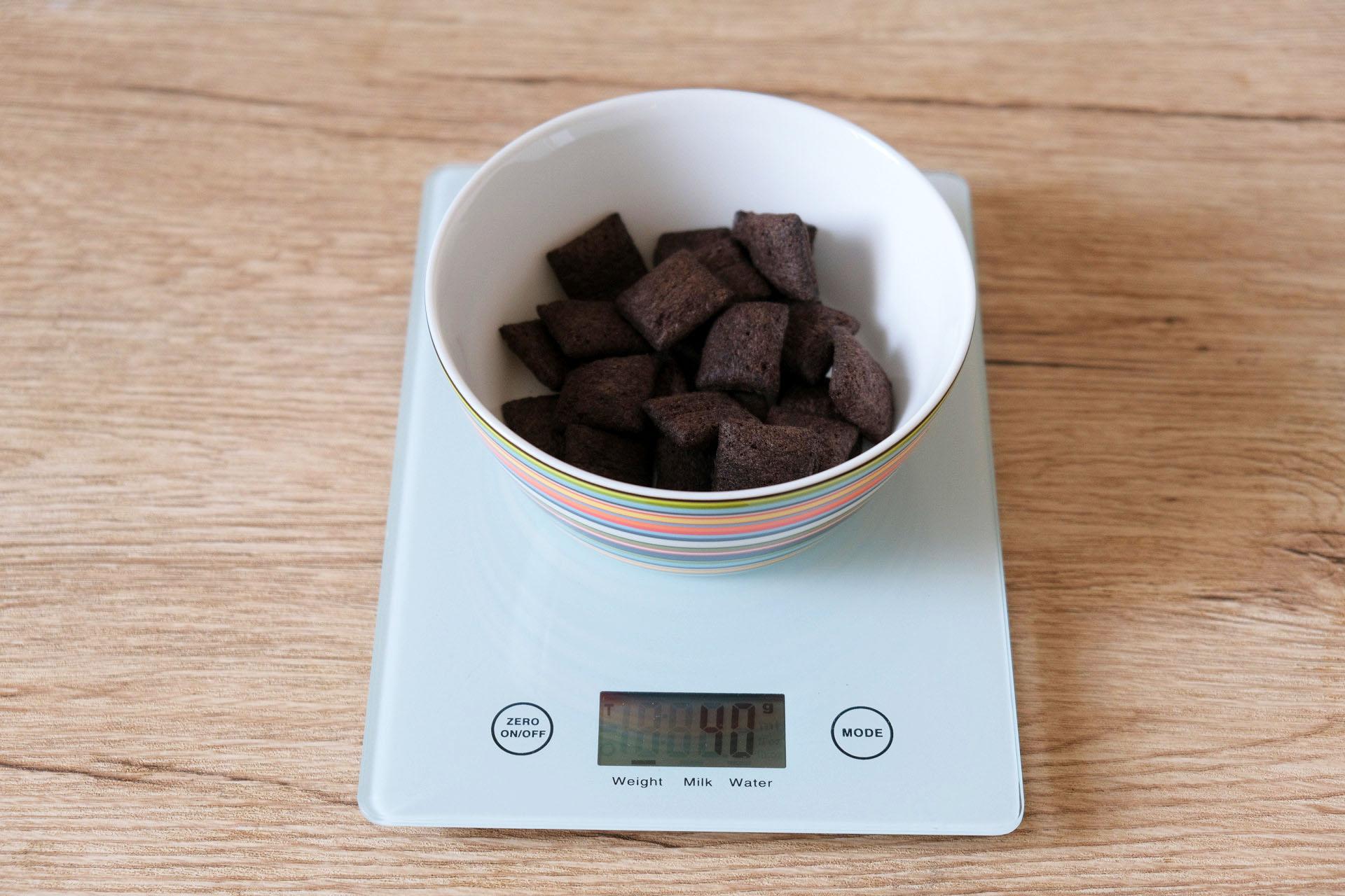 1食分のハーシーチョコビッツ40グラム