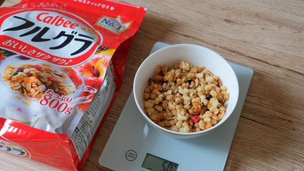 「フルグラ」1食50gはどれ位の量?グラムごとの写真と栄養成分