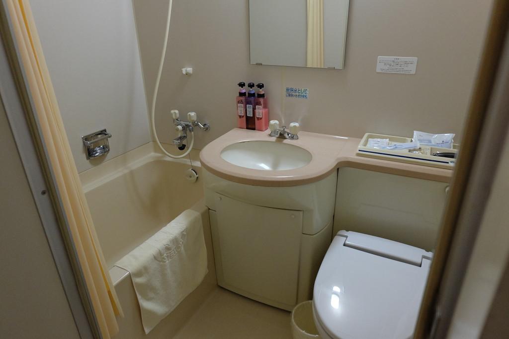 大山ロイヤルホテル 洋室ツインルーム バスルーム
